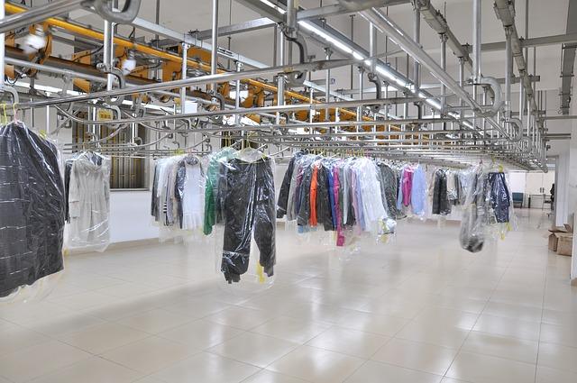 prádelna a oblečení