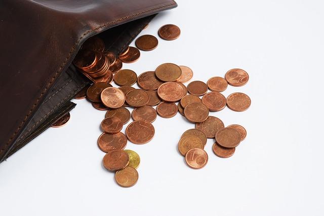 vysypané peníze