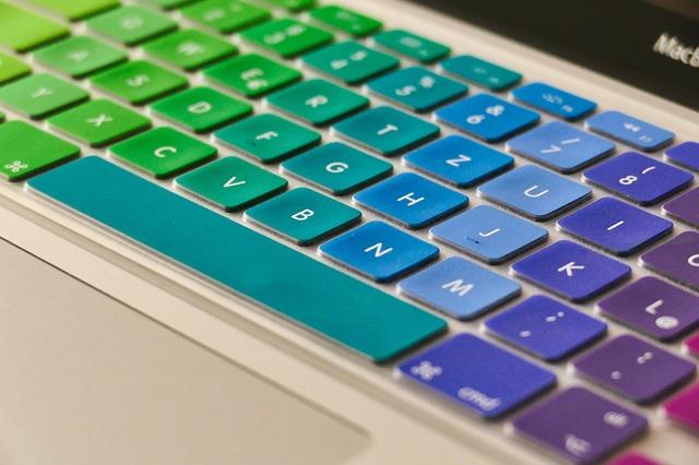duhová klávesnice