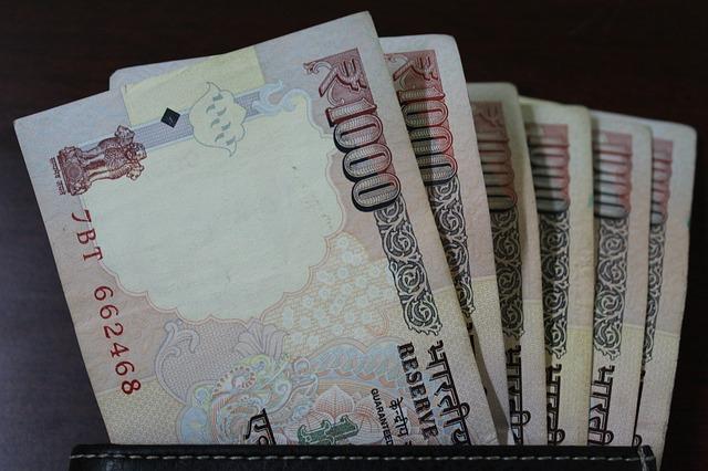 indické rupie – bankovky