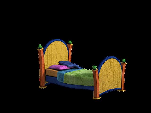 barevná postel