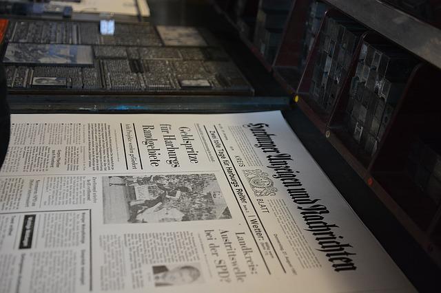 výtisk novin