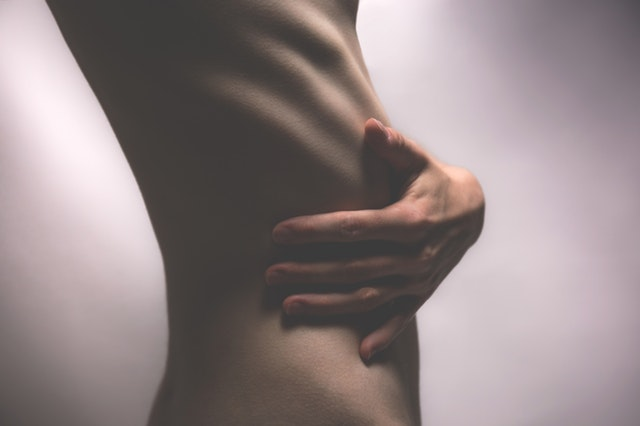 kůže, nahý, štíhlé tělo
