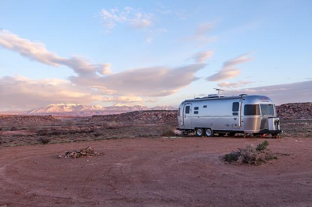mobilheim na poušti